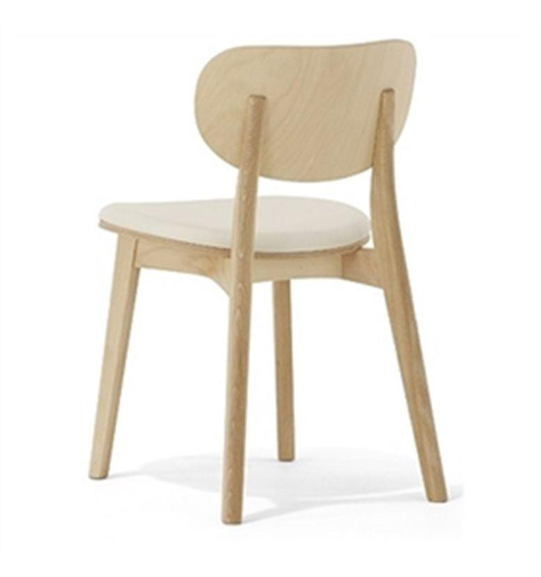 Allermuir Jaicer Wooden Side Chair Upholstered Seat