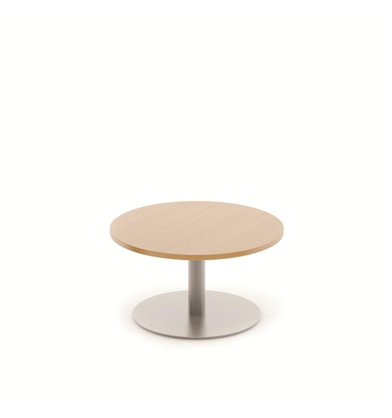 Komac reef round top bottom 600mm diameter white beech for Beech coffee table