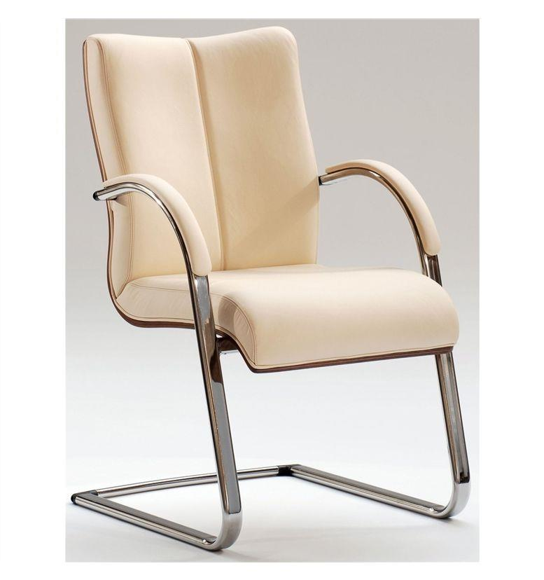 Hands Orion Classic Metal Cantilever Chair with Veneer Back 266 AS6