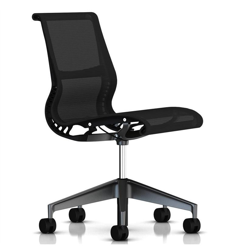 Herman Miller Setu Chair No Arms Graphite Office Chairs UK