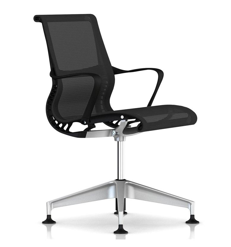 Herman Miller Setu Meeting Chair 4 Star Base With Glides Office Chairs UK