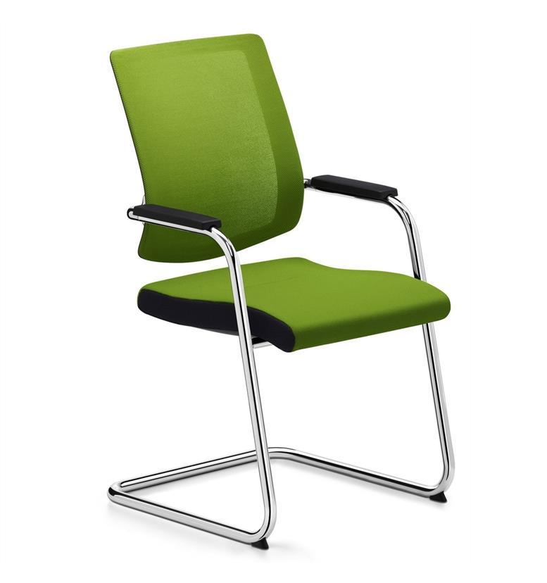 Sedus Black Dot Net Cantilever Visitor Chair