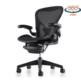 NEXT DAY DELIVERY! Herman Miller Classic Aeron Graphite Edition, PostureFit - Size B (Medium)