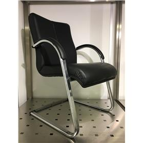 NEXT DAY DELIVERY! Hands Orion Leather Cantilever Chair (Ex Demonstration)