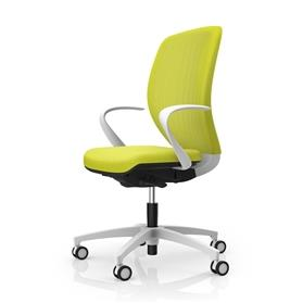 Dauphin Kick-Off Style Mesh Back Task Chair, White Edition