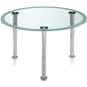 Komac Vox Round Glass Table