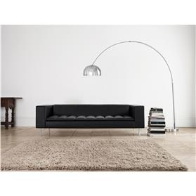 Boss Design Fairfax Three Seat Sofa Black Installed