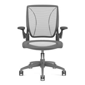 humanscale diffrient world grey graphite front mesh