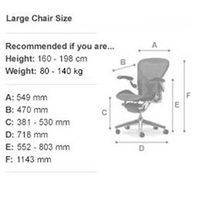 Herman Miller Aeron Graphite Edition Size C Large Office Chairs UK
