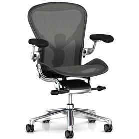 PRE ORDER New Herman Miller Aeron Polished Aluminium Size B (Medium)