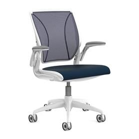 NEXT DAY DELIVERY! Humanscale Diffrient World Chair, Atlantic Blue Edition