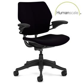 NEXT DAY DELIVERY! Humanscale Freedom Task Chair Black Edition