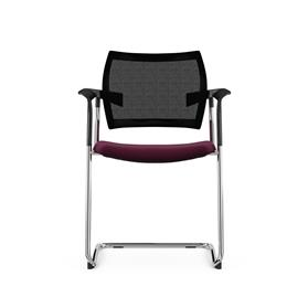 Komac Dream Upholstered Cantilever Chair with Mesh Back