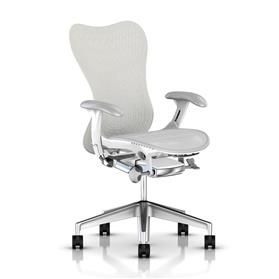 Herman Miller Mirra 2 Alpine, White Semi-Polished Base