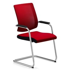 Sedus Black Dot Net Cantilever Visitor Chair Red