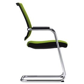 Sedus Black Dot Net Cantilever Visitor Chair Side