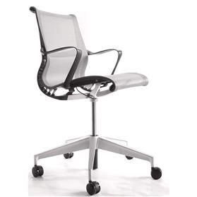 NEXT DAY DELIVERY! Herman Miller Setu Task Chair, Silver