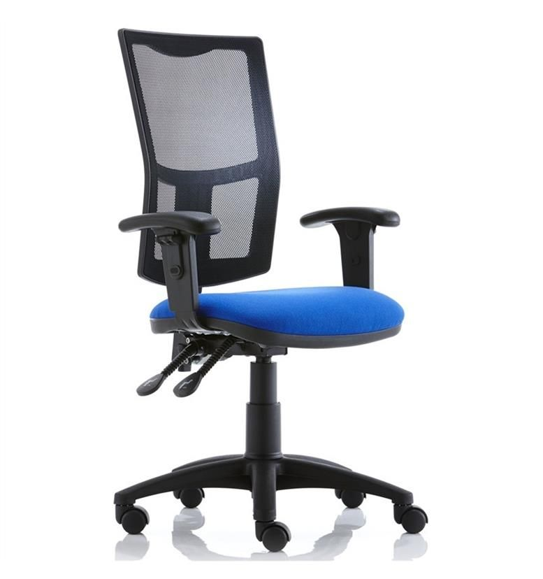 Torasen Mercury Mesh Back Office Chair With Height Adjustable Arms Office C