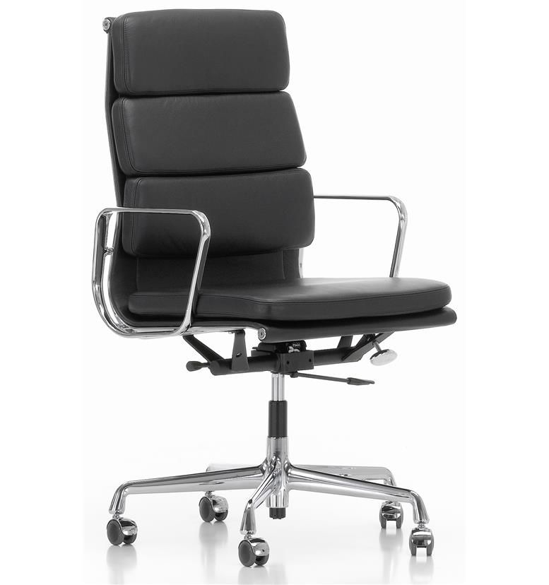 eames soft pad executive leather chair high back ea219 office