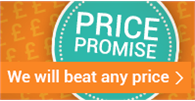 Our price promise - we won't be beaten on price
