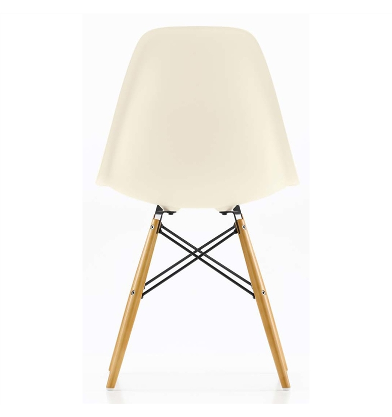 home vitra eames dsw side chair cream