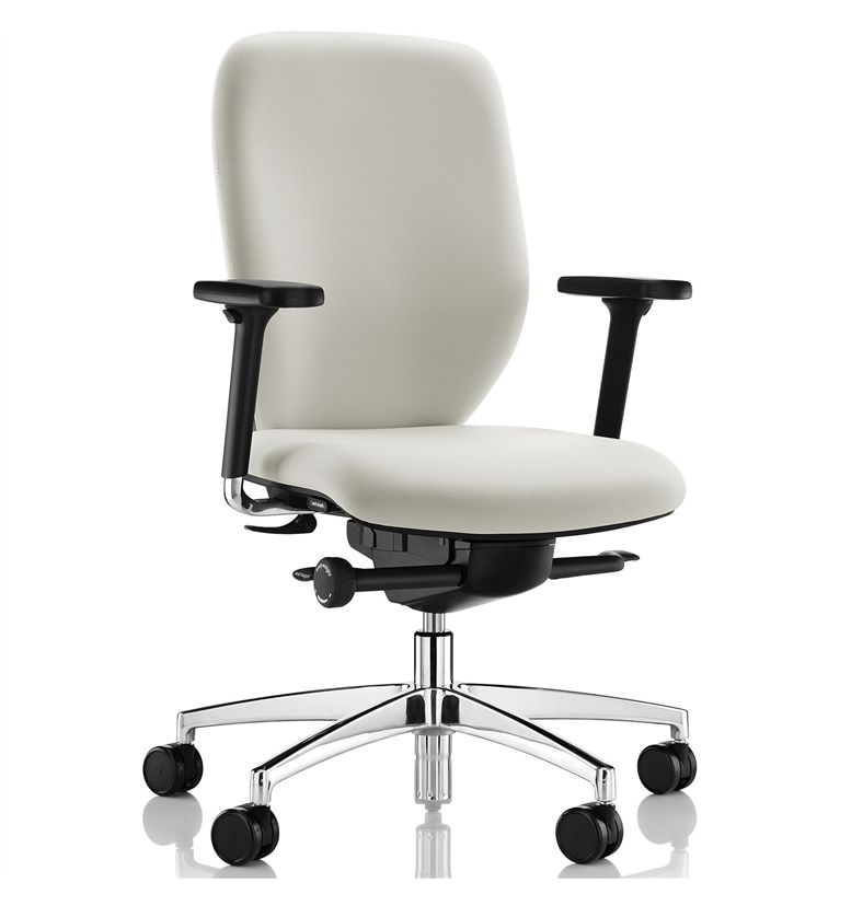 boss design lily office chair polished base