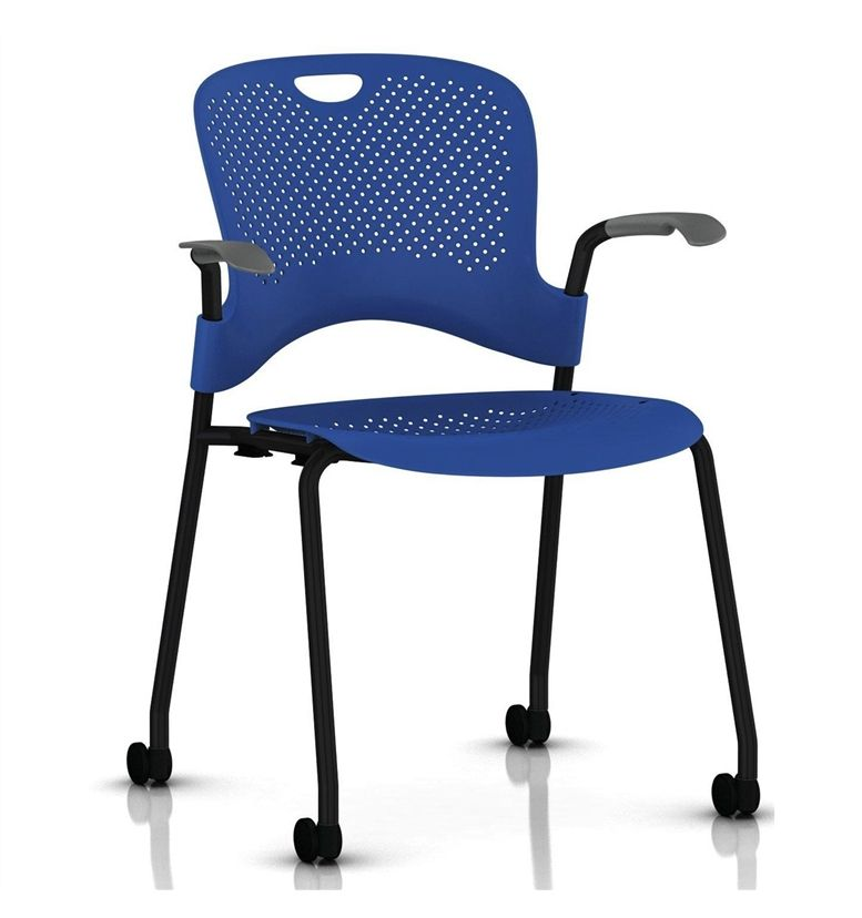 Herman Miller Caper Stacker Chair With Arms Black