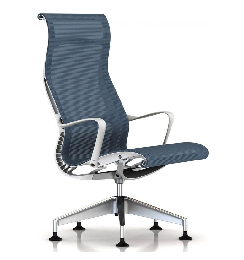 Herman Miller Setu Lounge Chair Berry Blue