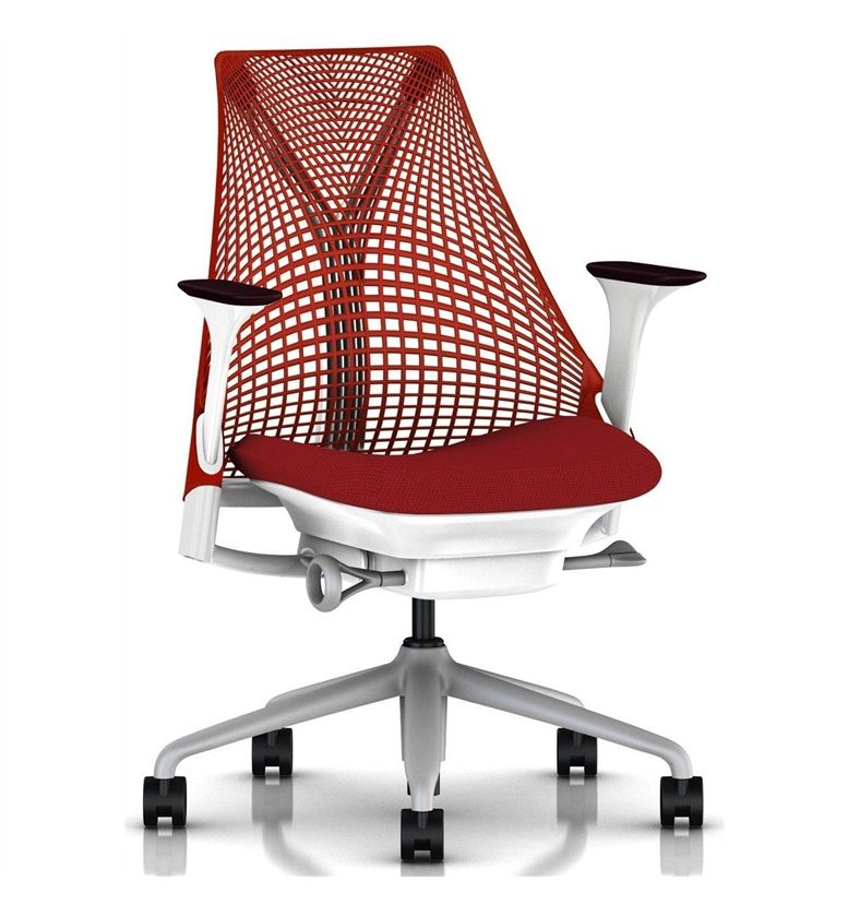herman miller sayl office chair rosso red in stock free delivery