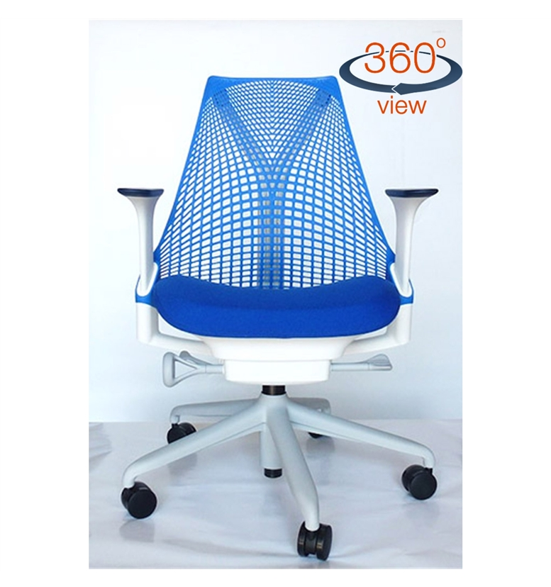 Herman Miller Sayl Blue Back Office Chair Smurf Blue