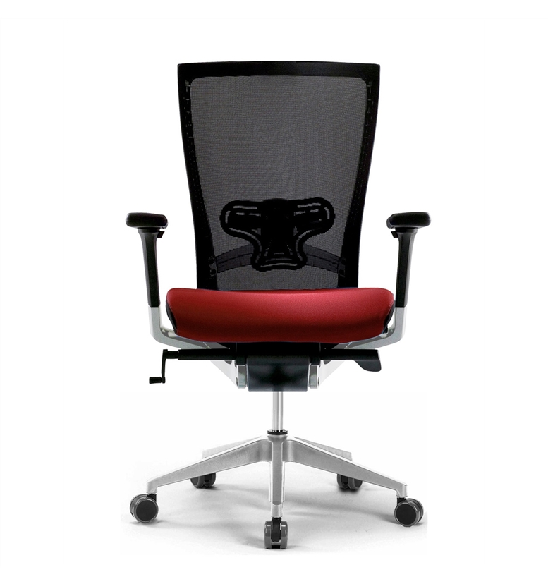 home techo sidiz mesh office chair in black red with lumbar