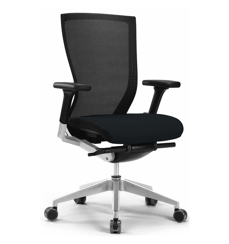 Mesh Office Chair In Black With Lumbar Fabric Selected Colour Free Uk