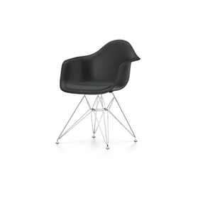 Vitra Eames Plastic DAR Chairs with Seat Upholstery
