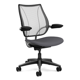 Humanscale Liberty Task Chair Pinstripe, Silver