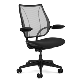 Humanscale Liberty Chair Black Edition, Duron Arms