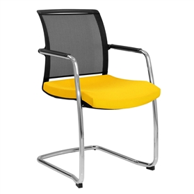 Elite Moda Mesh Back Cantilever Chair