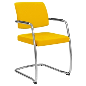 Elite Moda Fully Upholstered Open Back Cantilever Chair
