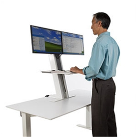 Humanscale QuickStand Heavy Mount with Large Platform and Crossbar