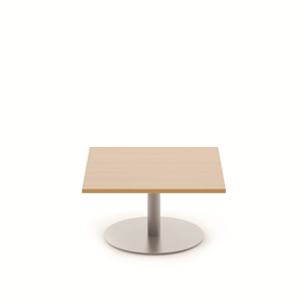 Komac Reef Square Top 600mm Diameter White/Beech Coffee Table