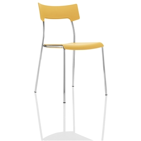 Boss Design Zandi Multi-Purpose Plastic Chair, Yellow