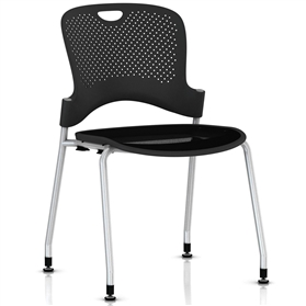 Herman Miller Caper Stacker Chair with Flexnet Seat - Silver