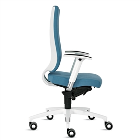 Dauphin InTouch High Back Swivel Chair - White Edition