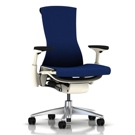 Herman Miller Embody White, Berry Blue Rhythm