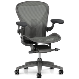 PRE ORDER - New Herman Miller Aeron Remastered, Carbon Finish Size B