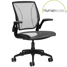 NEXT DAY DELIVERY! Humanscale Diffrient World Chair Black Edition, 15 Year Guarantee