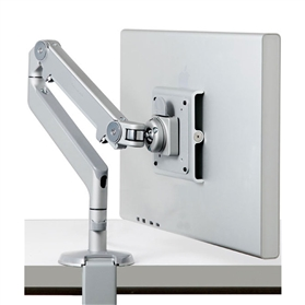 Humanscale M2 Monitor Arm, Silver/Grey with Clamp