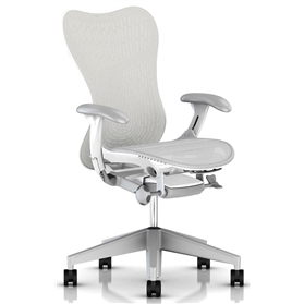 Herman Miller Mirra 2 Alpine, White Frame and Fog Base
