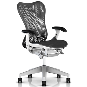 Herman Miller Mirra 2, TriFlex II Back, Graphite Edition with White Frame