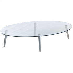 Orangebox Surf Oval Glass Table