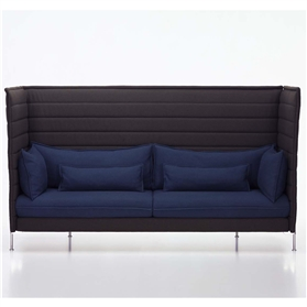 Alcove High Back Three Seater Sofa by Vitra